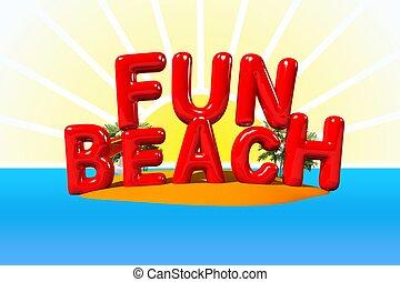 divertimento, isola, spiaggia