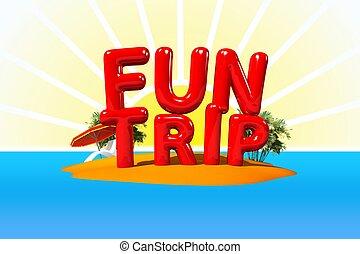 divertimento, isola, viaggio
