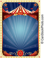 divertimento, manifesto, circo