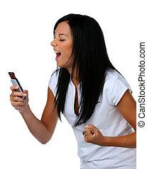 divertimento, mensagem, sms, adolescentes, ter