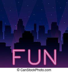 divertimento, neon, pubblicità