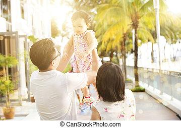 divertimento, recurso, exterior, tendo, família