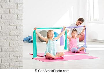 divertimento, seu, corrigir, postura