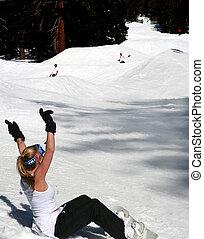 divertimento, snowboarding