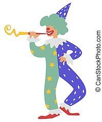 divertissement, ruses, clown, plaisanteries, vacances,...