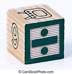 Divide symbol Childrens Blocks