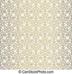 dividere, ornamento, astratto, pattern., seamless, floreale, linea geometrica