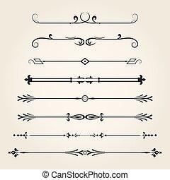 dividers-, alapismeretek, calligraphic
