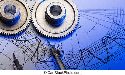 dividers, opstellen, mechanisch, ratchets