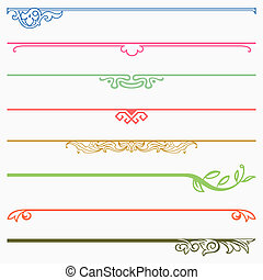 Dividers - Set of colour dividers