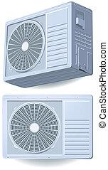 dividir, air-conditioner, sistema