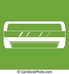 dividir, condicionamiento, verde, sistema, icono
