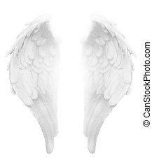 Divine Light White Angel Wings - Simple detailed...