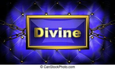 divine on velvet background