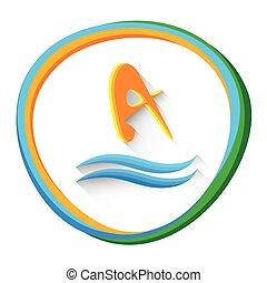 Diving Athlete Sport Game Logo Icon