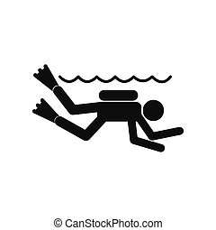Diving black simple icon