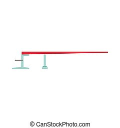 Diving board or springboard ocean surfing adventure sports sign recreation vector icon. Leisure water pool jump
