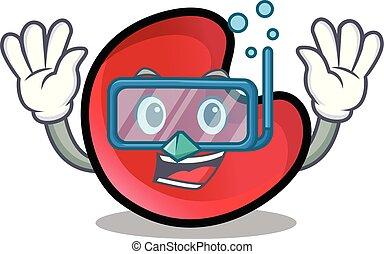 Diving candy moon character cartoon