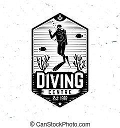 Diving centre. Vector illustration.