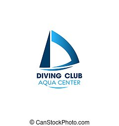 Diving club vector sign
