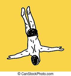 diving doodle