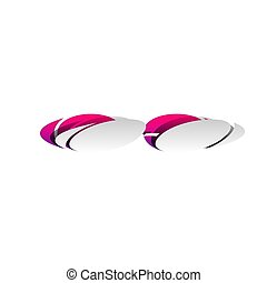 Diving glasses sign illustration. Vector. Detachable paper with