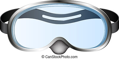 Diving goggles (diving mask) isolated on white background
