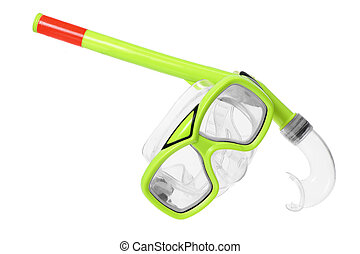 Diving Goggles on White Background