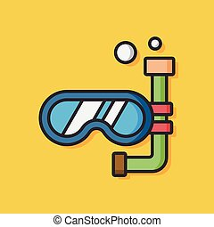 diving Goggles vector icon