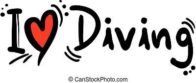 Diving love - Creative design fo diving love