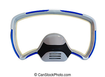 Diving mask as a frame - Blue diving mask as a frame...
