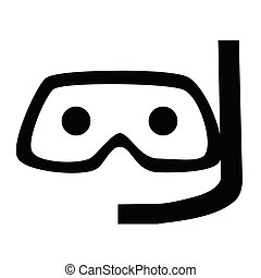 Diving mask flat illustration on white