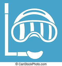 Diving mask icon white