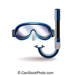 Diving mask isolated on white vector
