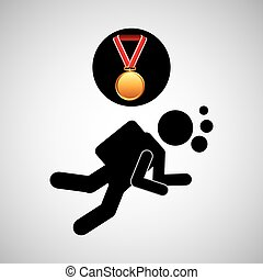 diving medal sport extreme graphic
