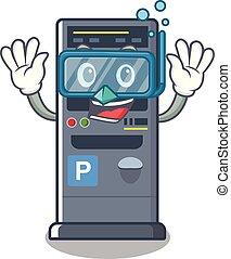 Diving parking vending machine the cartoon shape
