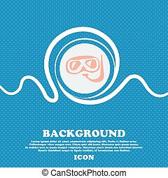 Diving sign. Blue and white abstract background flecked with space for text and your design. Vector