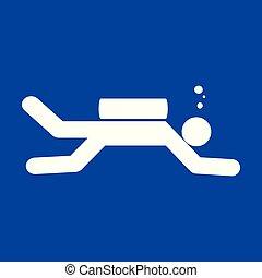 Diving Sport Figure Symbol Vector Illustration Graphic