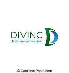 Diving underwater festival