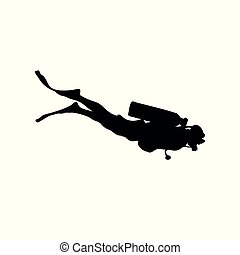 diving vector silhouette