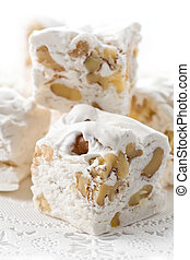 Divinity with Nuts - Delicious divinity fudge with nuts...