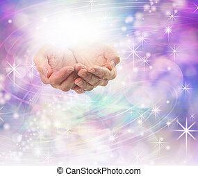 divino, luz, curación, energía