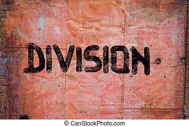 divisão, conceito