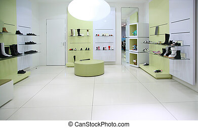 divisão, foot-wear, loja