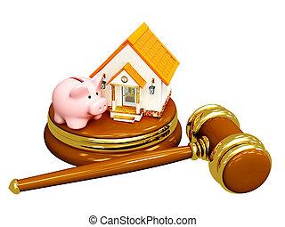 divisão propriedade, em, divórcio