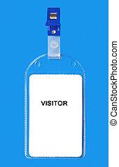 divisa de la identificación, visitante