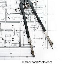 diviseurs, architectural, paln