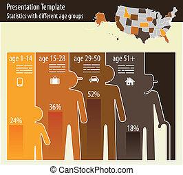 division, ålder, presentation, mall