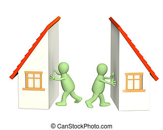 Division of property at divorce - Conceptual image - ...