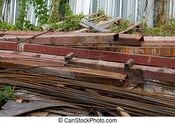 Division rebar used in construction, Scrap steel construction